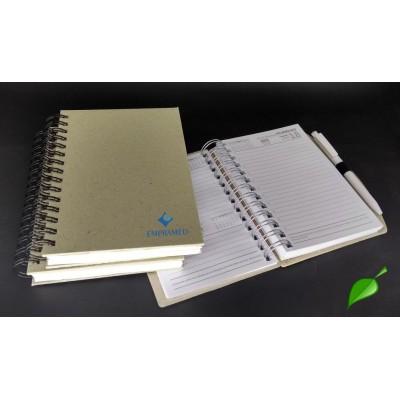 Agenda Eco Rustik com caneta