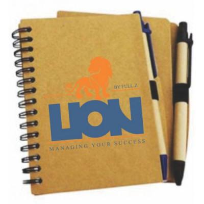 Caderneta de anotações com Caneta Ecológico.